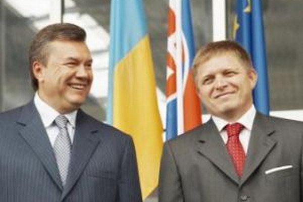 Viktor Janukovyč a Robert Fico.