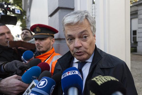 Belgický vicepremiér a šéf diplomacie Didier Reynders.