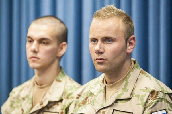 Vojaci zranení v Afganistane Martin Chropovský a Matej Macho.