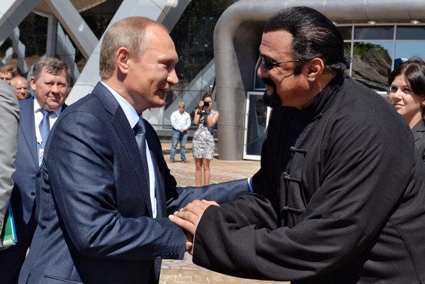 Ruský prezident a americký herec.