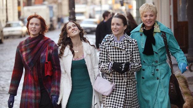 Miranda, Carrie, Charlotte a Samantha v plnej kráse seriálového života Sex v meste (1998 -2004).