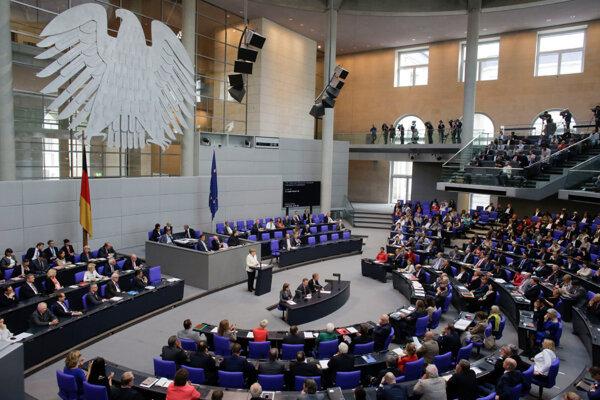 Nemecký Bundestag.