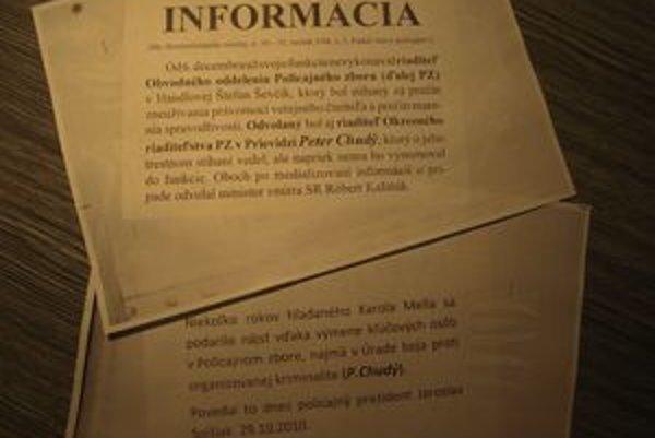 Letáky podľa polície obsahujú nepravdivé informácie.
