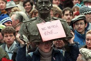 Nežná revolúcia v Prahe.
