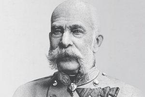 František Jozef na historickej fotografii okolo roku 1900.