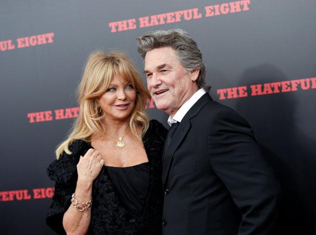 Goldie Hawn s partnerom Kurtom Russelom