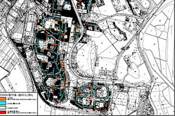 V mape sa orientuje podľa toho, akou farbou sú chodníky zaznačené.