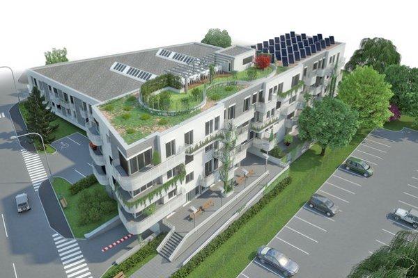 Zelenú strechu projektu Zelené átrium v Trnave vidno na prvý pohľad. No stavba je zaujímavá napríklad aj využitím technológie energetických pilót.