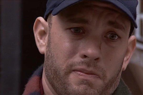 Tom Hanks vo filme Philadelphia.
