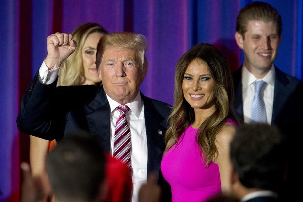 Donald Trump s manželkou Melaniou Trump