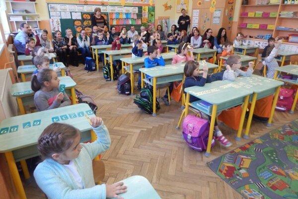 Žiaci chceli svojim rodičom ukázať, ako už vedia pracovať na vyučovaní.