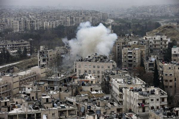 Sýrske mesto Aleppo.