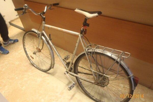 Nájdený bicykel.