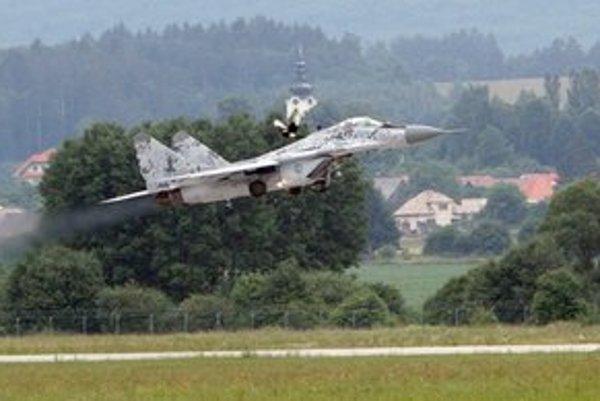 Stíhačka MiG-29 slovenskej armády.