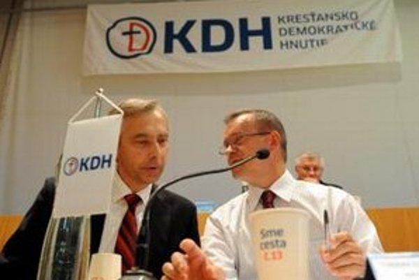 Ján Figeľ a Július Brocka.