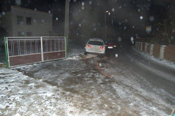 Martin havaroval v Olešnej, z miesta nehody ušiel.