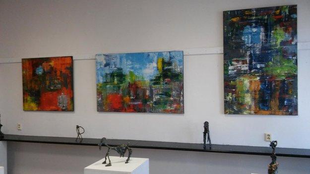 Foto z poslednej výstavy v žilinskom Dome Matice Slovenskej v decembri 2016.