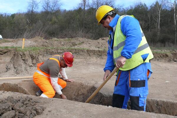 Archeologický výskum pri Detve.