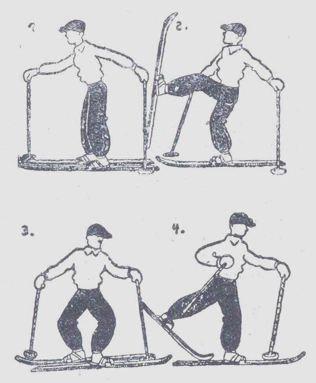 Z príručky lyžiarskeho výcviku.