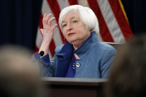 Šéfka americkej centrálnej banky (Fed) Janet Yellenová.