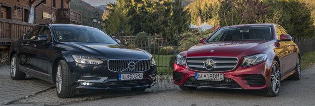 Naživo viac pútalo pozornosť Volvo. Na fotke zvýrazňuje Mercedes