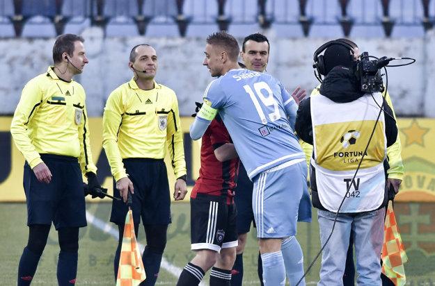 Na stretnutí Slovan Bratislava – Spartak Trnava.