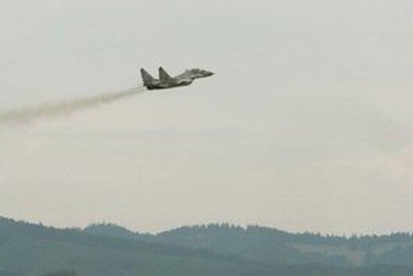 MiG-29 vo vzduchu.