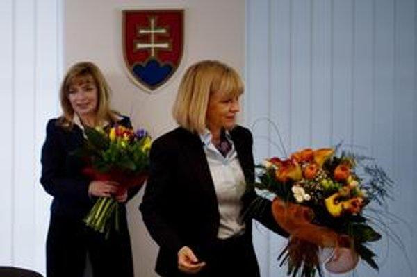 Zástupkyňa sestier a ministerka: Mária Lévyová (vľavo)a Zuzana Zvolenská.