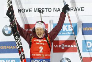 Francúzka Anais Chevalierová ovládla v Novom Měste na Moravě stíhacie preteky 3. kola SP biatlonistiek.