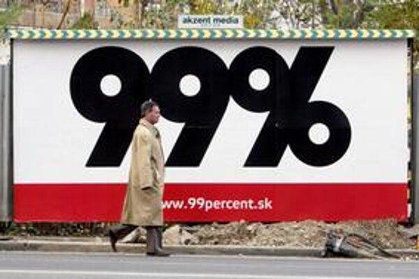 O financovaní mohutnej kampane hnutie 99 percent mlčí.