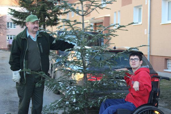 Jeden zo stromčekov putoval Dankovi Magdolenovi zo Žiaru.