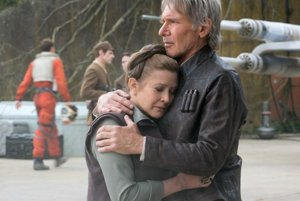 Carrie Fisherová a Harrison Ford v posledných Star Wars.