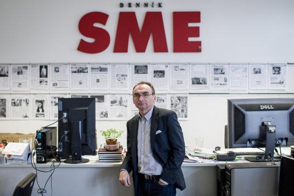 Bývalý zástupca šéfredaktorky denníka SME Petr Šabata.