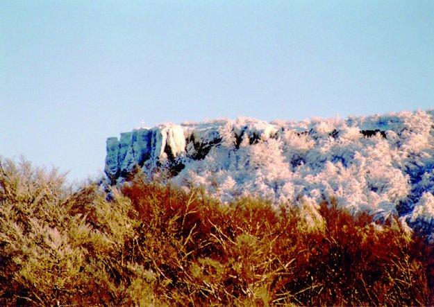 Sninský kameň v zime.