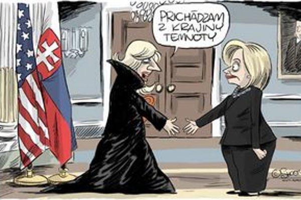 Radičová sa už s vrcholnými americkými politikmi stretla, napríklad s ministerkou zahraničia Hilary Clintonovou.