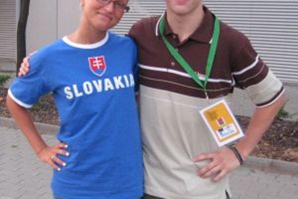 Peter Obžera so sestrou Gabrielou.