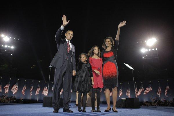 Barack Obama s manželkou Michelle a dcérami.