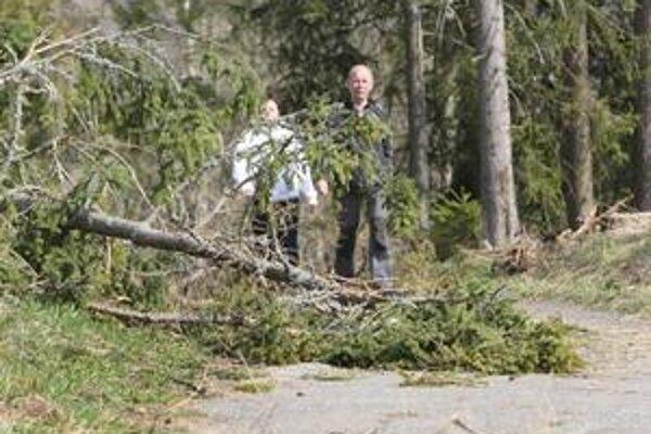 Stromy popadali na turistické chodníky.