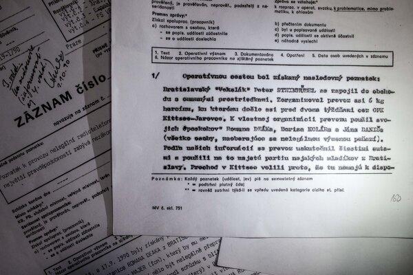 Kompromitujúce materiáli na Borisa Kolára spájajúce ho s podsvetím.