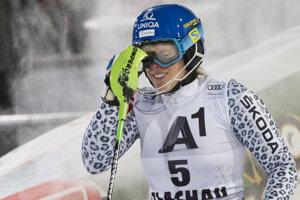Veronika Velez-Zuzulová v cieli 2. kola.