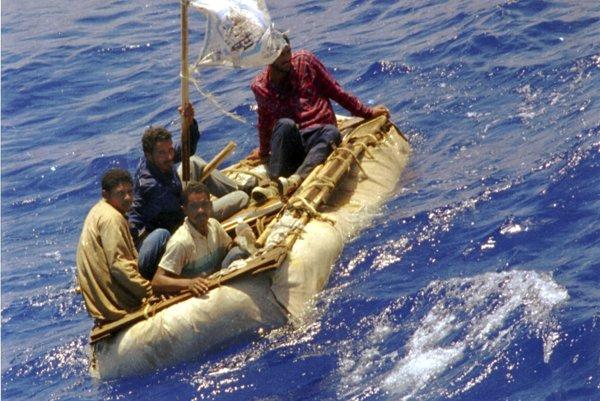 Kubánski utečenci na ceste za slobodou.