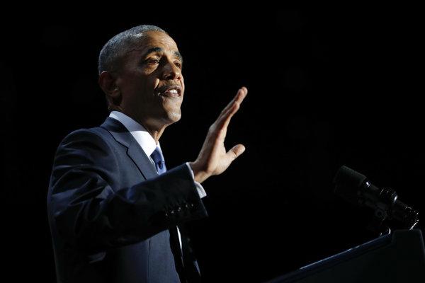 Obama sa lúči.