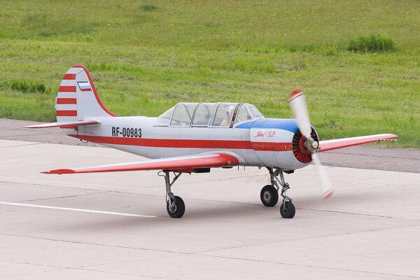 Ruské lietadlo Jak-52.