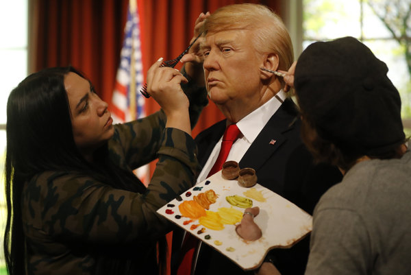 Figurína Donalda Trumpa v múzeu Madame Tussauds.
