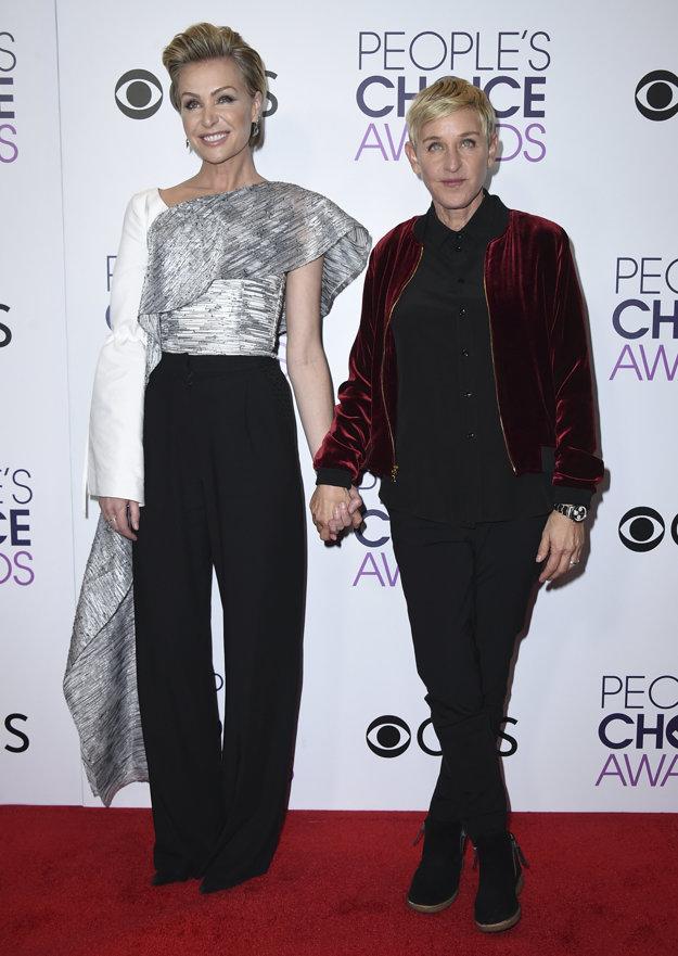 Portia de Rossi s manželkou Ellen DeGeneres