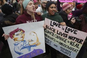 Láska je láska. Na životoch čiernych záleží. Imigranti robia Ameriku veľkou. Ženské práva sú ľudské práva.