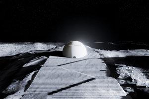 Mesačný chrám od Rubia a schody ktoré k nemu vedú,