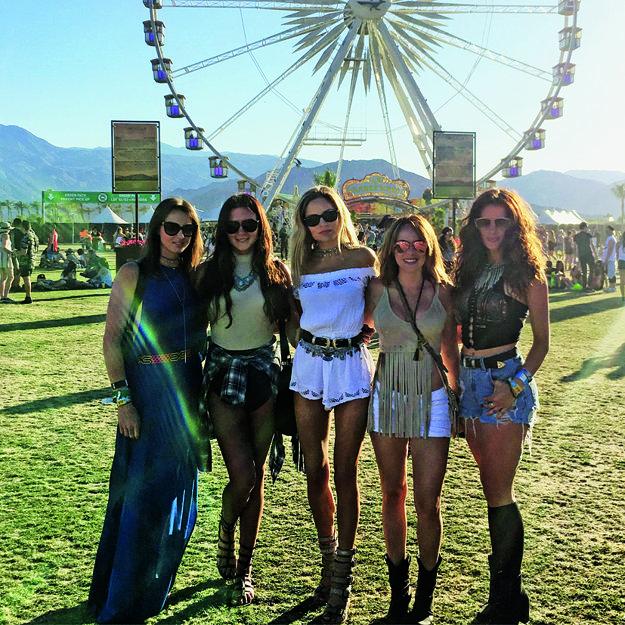 S priateľkami na festivale Coachella