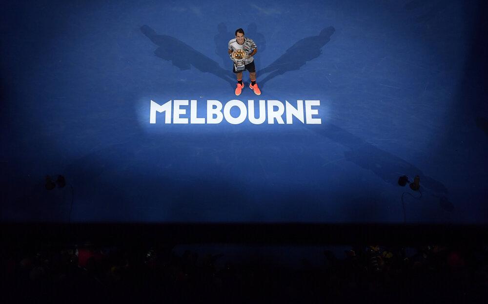 Roger Federer po víťaznom finále.