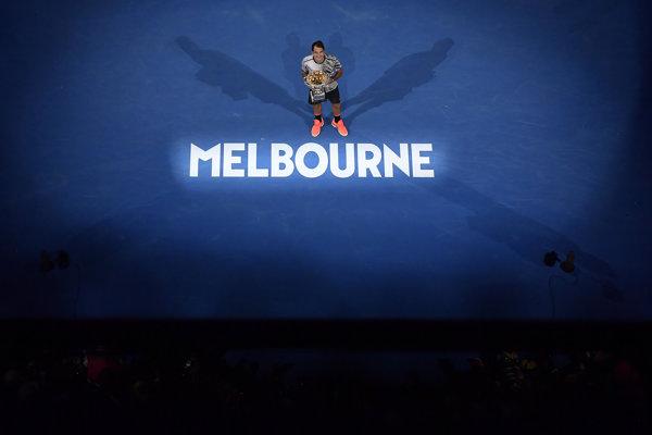 Roger Federer po víťaznom finále - ilustračná fotografia.